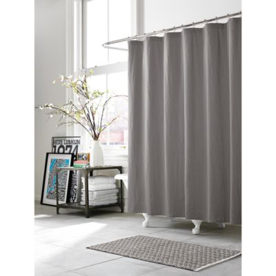 Kenneth Cole Reaction Home Mineral 72-Inch x 96-Inch Shower Curtain in Gunmetal