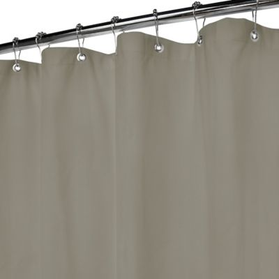 Park B. Smith Natural Pique 72-Inch x 72-Inch Shower Curtain in Grey