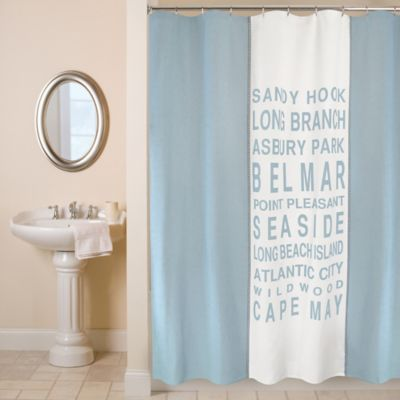 Park B. Smith 72 Blue Shower Curtain