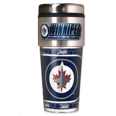 NHL Winnipeg Jets 16 oz. Metallic Tumbler