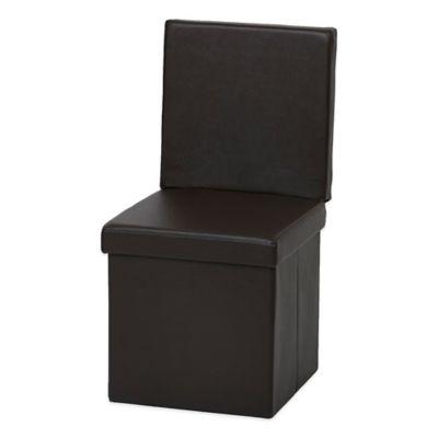 FHE Folding Ottoman Chair in Brown