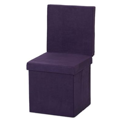 FHE Folding Ottoman Chair in Purple