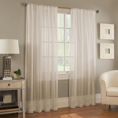 Davenport Stripe 50-Inch x 63-Inch Window Curtain Panel in White