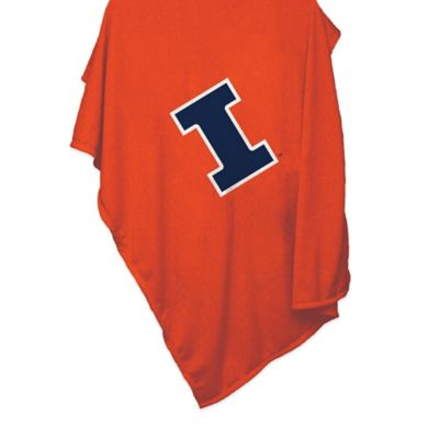 Illinois University 84-Inch x 54-Inch Sweatshirt Throw Blanket