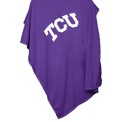 Texas Christian University 84-Inch x 54-Inch Sweatshirt Throw Blanket