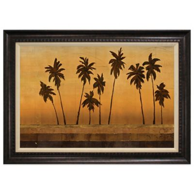 Sunset Palms II Framed Art