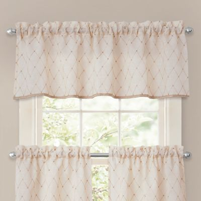 Crystal Brook Window Valance in Ivory