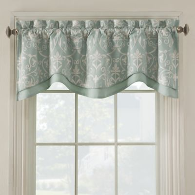 Blue Embroidered Valance