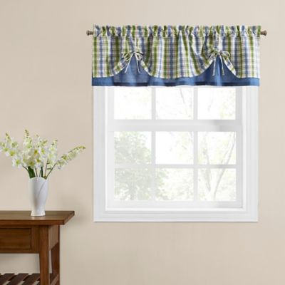 Risa Tie-Up Window Valance in Blue