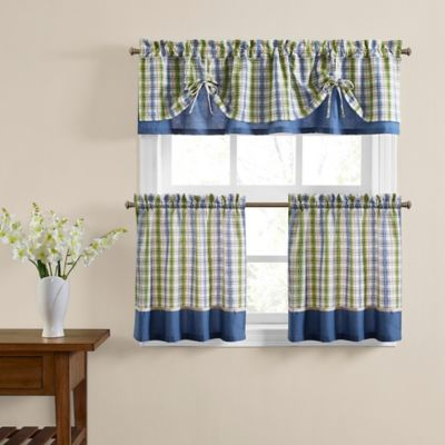 Risa 24-Inch Window Curtain Tier Pair in Blue