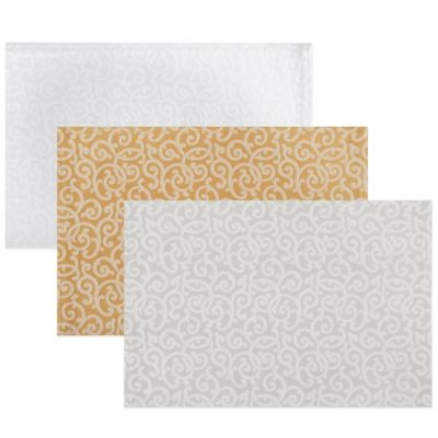 Waterford® Channing 13-Inch x 19-Inch Placemat in White