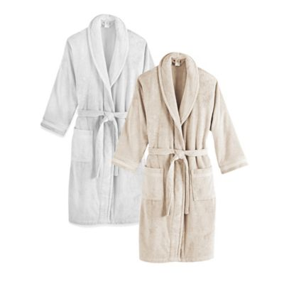 Frette at Home Size Large/Extra Large Unisex Milano Terry Bathrobe in White