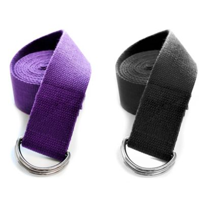 Dragonfly™ Yoga 8-Foot Cotton D-Ring Strap in Purple