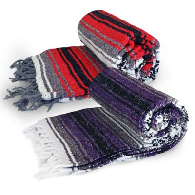 Dragonfly™ Yoga Studio Mexican Blanket in Purple