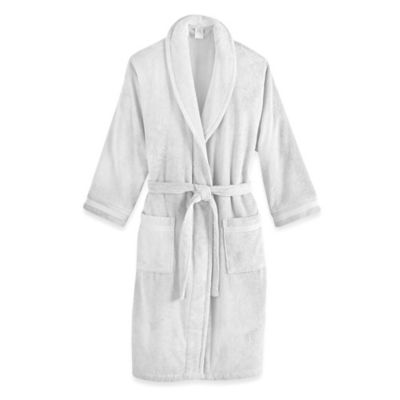Frette at Home Size Small/Medium Unisex Milano Terry Bathrobe in White