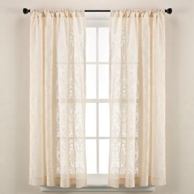 Downton Abbey® Duneagle Collection 100% Cotton 63-Inch Window Panel in Natural