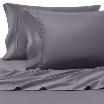 Dark Grey Sateen Pillowcase