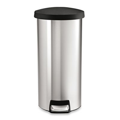 simplehuman® 30-Liter Round Fingerprint Proof Step Can