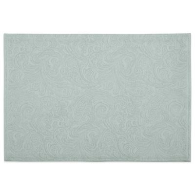 Waterford® Linens Chelsea 13-Inch x 19-Inch Placemat in Aqua