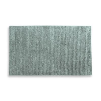 Watershed by Park B. Smith® Zero Twist 20-Inch x 30-Inch Pebble Stripe Bath Rug - White