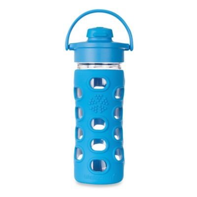 Life Factory® 12 oz. Glass Water Bottle with Flip Top in Ocean Blue