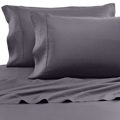 Eucalyptus Origins™ Tencel® Lyocell Full Sheet Set in Grey Stripe