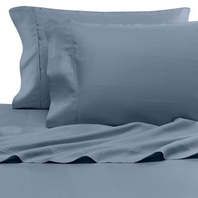 Eucalyptus Origins™ Tencel® Lyocell Full Sheet Set in Blue Stripe