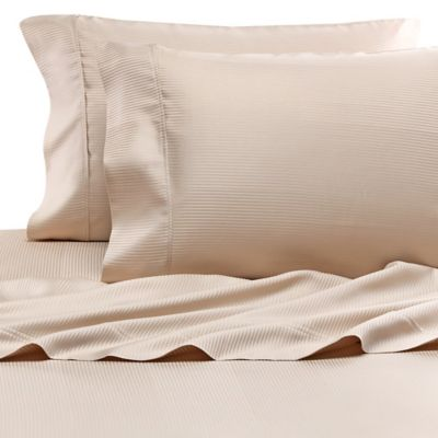 Eucalyptus Origins™ Tencel® Lyocell King Pillowcases in Tan Stripe (Set of 2)