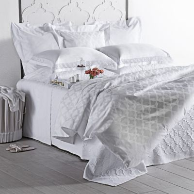 Frette At Home Marano King Duvet Cover in White