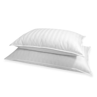 Stripe 500 Thread Count Standard/Queen Down Pillow