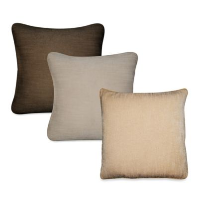 Venito Square Throw Pillow in Gold