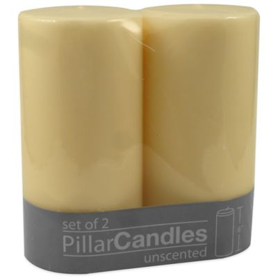 Beige Pillar Candle