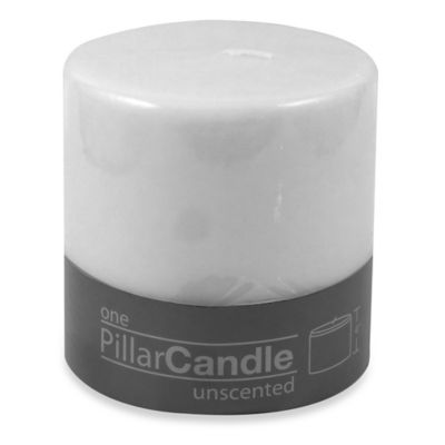 4-Inch x 4-Inch Unscented Pillar Candle in White