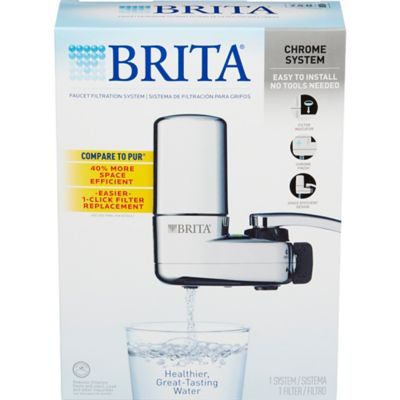 Brita® On Tap Chrome and Black Faucet Mount Filtration System