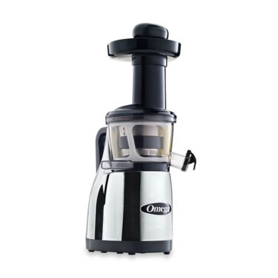 Omega® Low Speed Masticating Juicer with Handle in Chrome