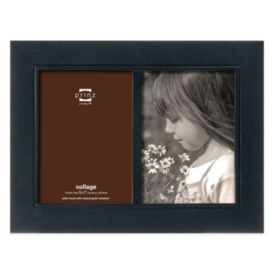 7 2-Opening Black Picture Frame