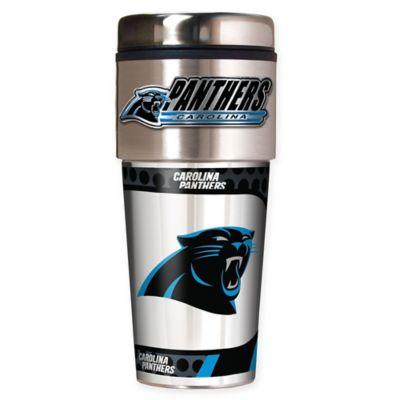 NFL Carolina Panthers 16 oz. Stainless Steel Travel Tumbler