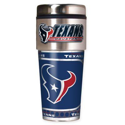 NFL Houston Texans 16 oz. Stainless Steel Travel Tumbler