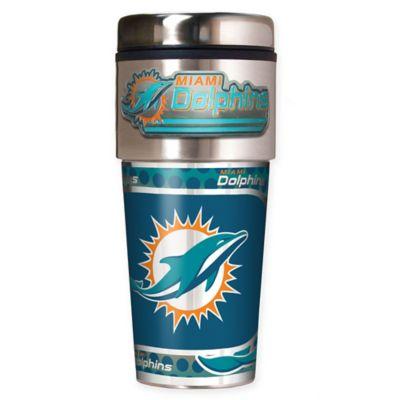 NFL Miami Dolphins 16 oz. Stainless Steel Travel Tumbler