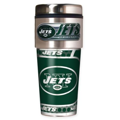 NFL New York Jets 16 oz. Stainless Steel Travel Tumbler