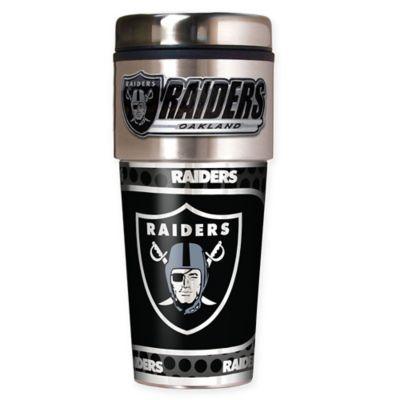 NFL Oakland Raiders 16 oz. Stainless Steel Travel Tumbler
