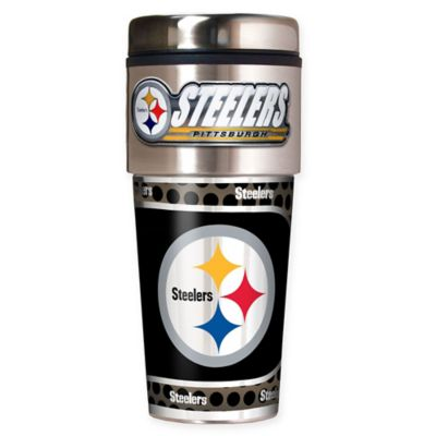 NFL Pittsburgh Steelers 16 oz. Stainless Steel Travel Tumbler