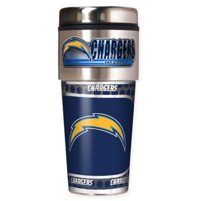 NFL San Diego Chargers 16 oz. Stainless Steel Travel Tumbler
