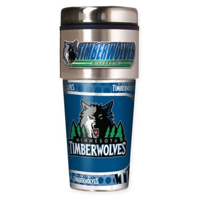 NBA Minnesota Timberwolves 16 oz. Metallic Travel Tumbler