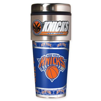 NBA New York Knicks 16 oz. Metallic Travel Tumbler