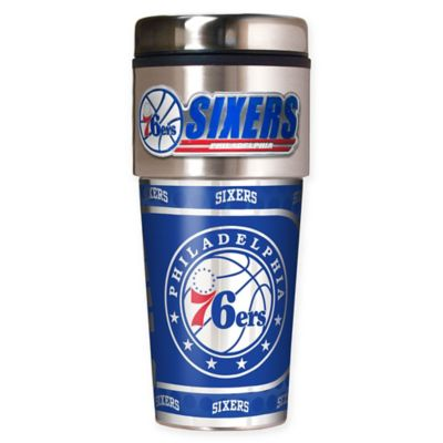 NBA Philadelphia 76ers 16 oz. Metallic Travel Tumbler