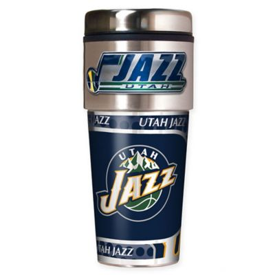 NBA Utah Jazz 16 oz. Metallic Travel Tumbler