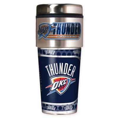 NBA Oklahoma City Thunder 16 oz. Metallic Travel Tumbler