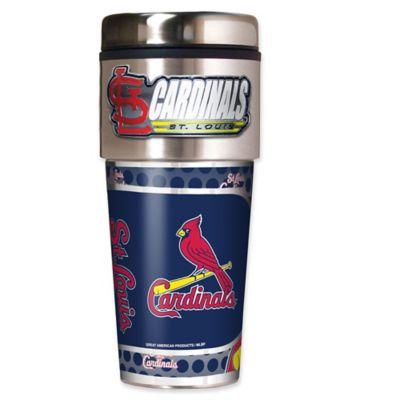 MLB St. Louis Cardinals 16 oz. Metallic Tumbler