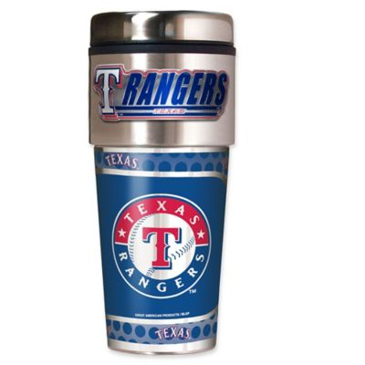 MLB Texas Rangers 16 oz. Metallic Tumbler